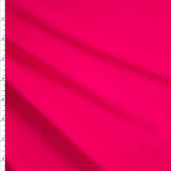 Neon Coral Stretch Lightweight Crepe Suiting Fabric By The Yard