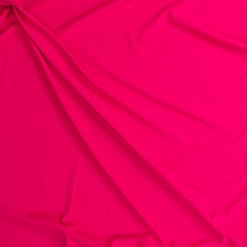 Neon Coral Stretch Lightweight Crepe Suiting Fabric By The Yard - Wide shot