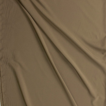 Taupe Stretch Poly Lining Fabric By The Yard - Wide shot