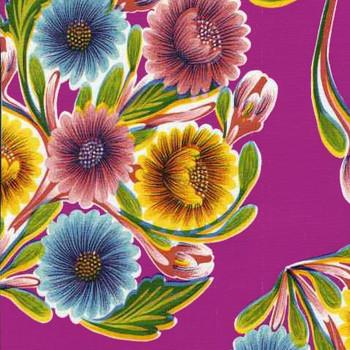 """""""Bloom"""" Fuschia Oilcloth"""