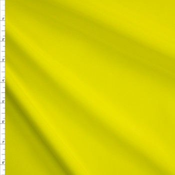 Neon Yellow Stretch Poly Lining Fabric By The Yard