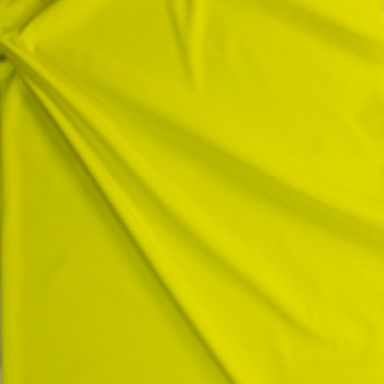 Neon Yellow Stretch Poly Lining Fabric By The Yard - Wide shot