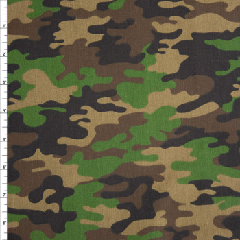 Classic Camouflage Quilter's Cotton Print Fabric By The Yard