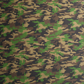 Classic Camouflage Quilter's Cotton Print Fabric By The Yard - Wide shot