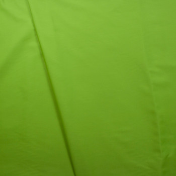 Lime Green Poly/Cotton Midweight Twill Fabric By The Yard - Wide shot