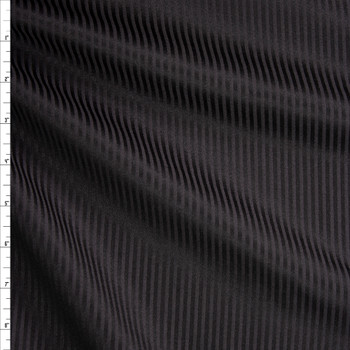 Black on Black Striped Midweight Sateen Fabric By The Yard