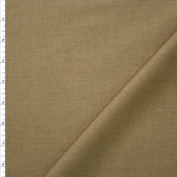 Khaki Moss Midweight Cotton End on End Fabric By The Yard