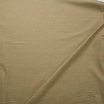 Khaki Moss Midweight Cotton End on End Fabric By The Yard - Wide shot