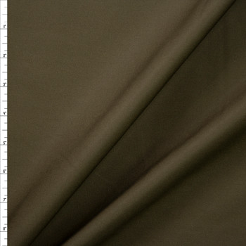 Olive Poly/Cotton Midweight Twill Fabric By The Yard
