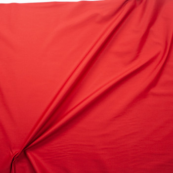 Red Cotton Twill Fabric By The Yard - Wide shot