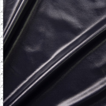 Black Wet Look Nylon/Spandex Fabric By The Yard