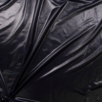 Black Wet Look Nylon/Spandex Fabric By The Yard - Wide shot