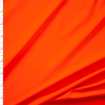 Bright Orange Designer Midweight Nylon/Spandex Fabric By The Yard