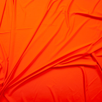 Bright Orange Designer Midweight Nylon/Spandex Fabric By The Yard - Wide shot