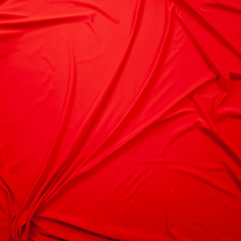 Bright Red Designer Midweight Nylon/Spandex Fabric By The Yard - Wide shot