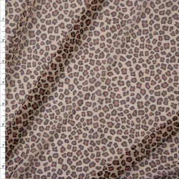 Cheetah Print Power Mesh Fabric By The Yard
