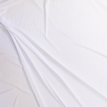 White Stretch Sports Mesh Fabric By The Yard - Wide shot