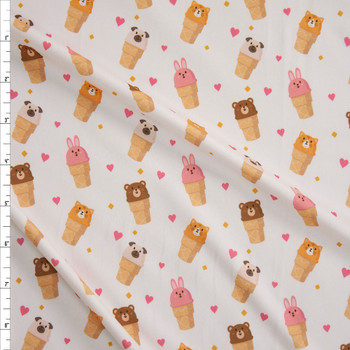 Cone Critters Double Brushed Poly Spandex Knit Fabric By The Yard
