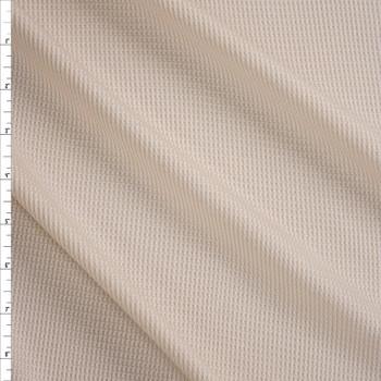 Ivory Lightweight Rayon Waffle Knit Fabric By The Yard