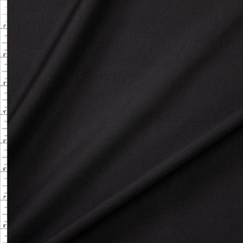 Black Designer Midweight Stretch Ponte Fabric By The Yard