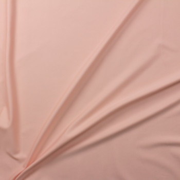Light Peach Designer Midweight Stretch Ponte Fabric By The Yard - Wide shot