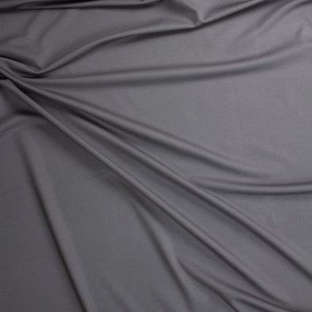 Charcoal Designer Midweight Stretch Ponte Fabric By The Yard - Wide shot