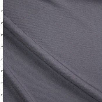 Charcoal Designer Midweight Stretch Polyester Ponte Fabric By The Yard