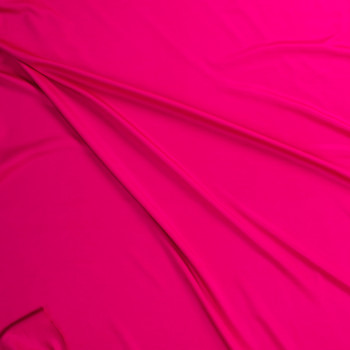 Hot Pink Designer Scuba Solid Fabric By The Yard - Wide shot