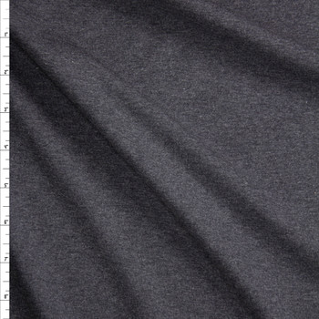Charcoal Midweight Cotton/Spandex Jersey Fabric By The Yard