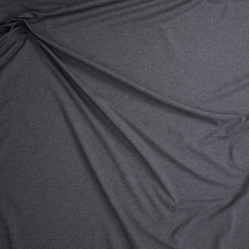 Charcoal Midweight Cotton/Spandex Jersey Fabric By The Yard - Wide shot