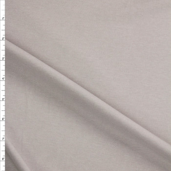 Light Grey Midweight Rayon Micro Rib Fabric By The Yard