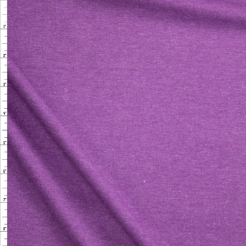 Purple Heather Midweight Rayon Micro Rib Fabric By The Yard