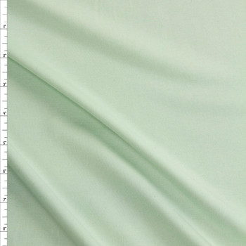 Mint Green Midweight Rayon Micro Rib Fabric By The Yard