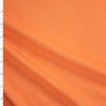 Sherbet Orange Midweight Rayon Rib Knit Fabric By The Yard