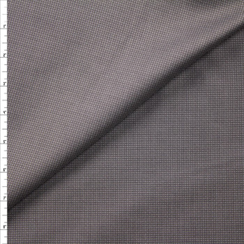 Grey and Black Diamond Pattern Designer Linen Fabric By The Yard