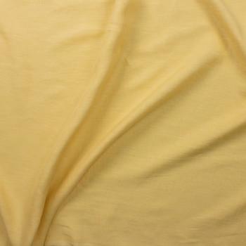 Light Yellow Designer Linen Fabric By The Yard - Wide shot