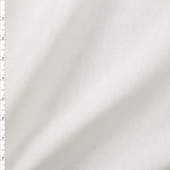 Winter White Designer Linen Fabric By The Yard