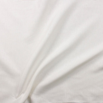 Winter White Designer Linen Fabric By The Yard - Wide shot