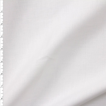 Optic White Designer Linen Fabric By The Yard