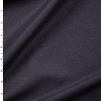 Dark Midnight Blue Crisp Lightweight Designer Linen Fabric By The Yard