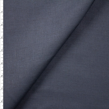 Dark Navy Designer Linen Fabric By The Yard