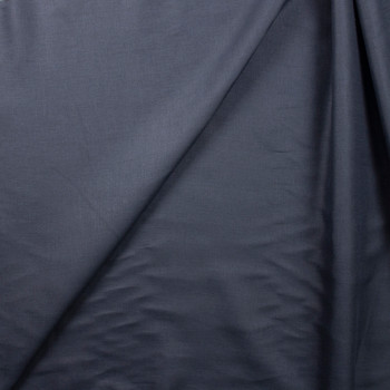 Dark Navy Designer Linen Fabric By The Yard - Wide shot