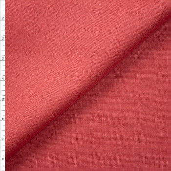Antique Coral Midweight Designer Linen Fabric By The Yard