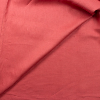 Antique Coral Midweight Designer Linen Fabric By The Yard - Wide shot