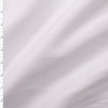 Bright White Designer Linen Fabric By The Yard