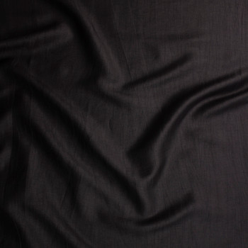 Black Crinkle Lightweight Designer Linen Blend Fabric By The Yard - Wide shot