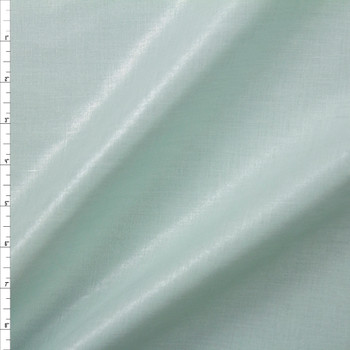 Sparkling Silver on Aqua Designer Linen Fabric By The Yard