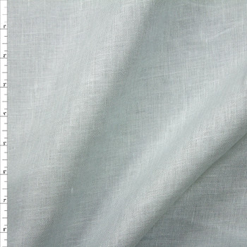 Glacier Grey Midweight Designer Linen Fabric By The Yard