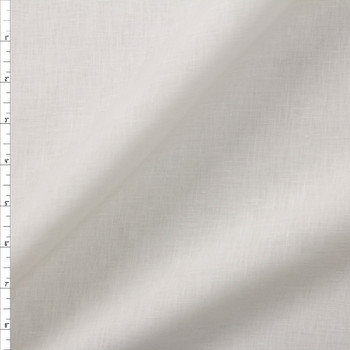 Warm White Lightweight Designer Linen Fabric By The Yard
