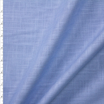 Sky Blue Midweight Designer Linen Fabric By The Yard